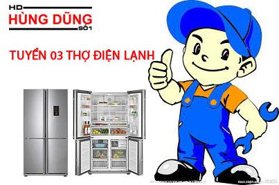 Điện lạnh Hùng Dũng tuyển thợ điện lạnh